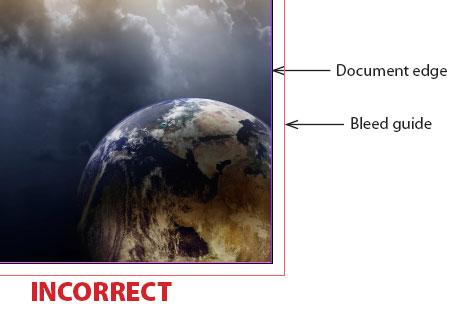 Bleed incorrect