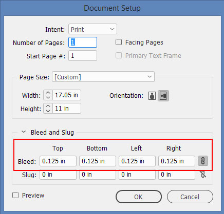 InDesign Document Setup