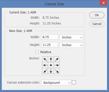 Photoshop Canvas Size