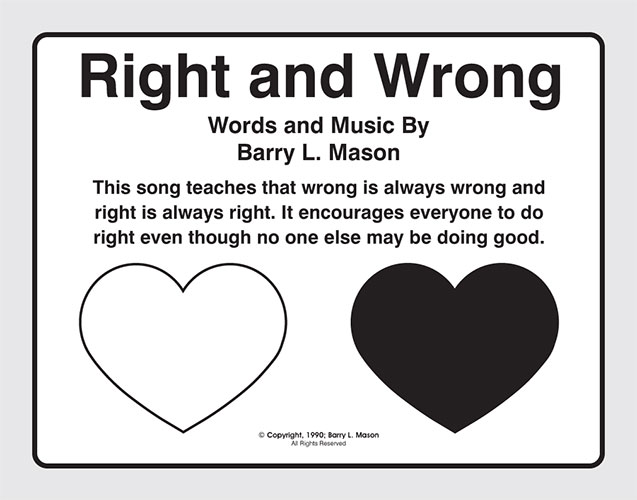 Right and Wrong by Barry L. Mason